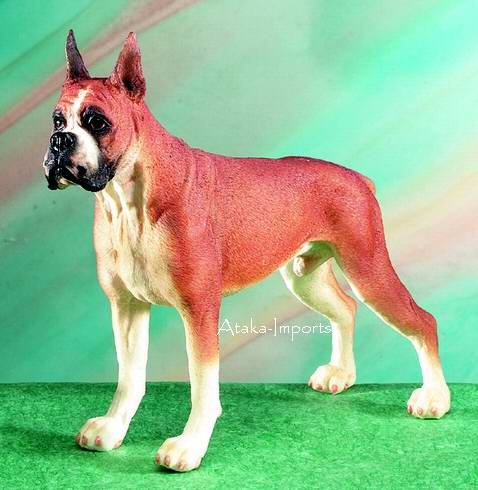 BOXER DOG FIGURINE-STATUE (5066)