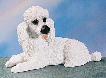 WHITE POODLE DOG FIGURINE (4403)