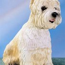 WEST HIGHLAND TERRIER-WESTIE-WESTY- DOG FIGURINE (4406s)