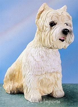WEST HIGHLAND TERRIER-WESTIE-WESTY- DOG FIGURINE (4406s)