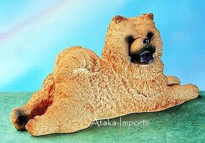 CHOW CHOW DOG FIGURINE (4582s)