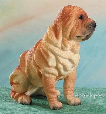 SHARPEI DOG FIGURINE (4956s)