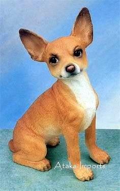 CHIHUAHUA (TAN)  DOG FIGURINE (4868)