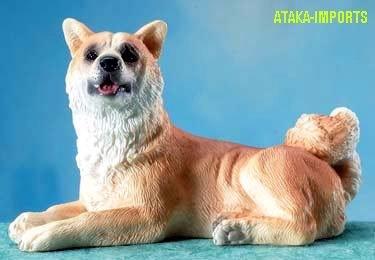 AKITA DOG FIGURINE-AKITA INU-JAPANESE AKITA (5664)