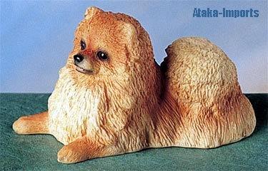 POMERANIAN DOG FIGURINE-POM (4867)