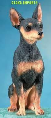 MINIATURE PINSCHER DOG FIGURINE-MINPIN (5671)