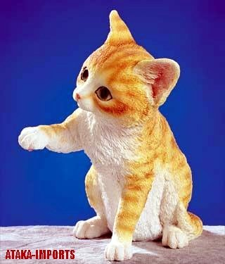 MIXED CAT FIGURINE FIGURINE-STATUE (5263)