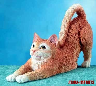 RED TABBY CAT FIGURINE-GINGER TABBY-MARMALADE TABBY (5660)