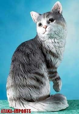 MAINE CAT FIGURINE-MAINE COON (5656)