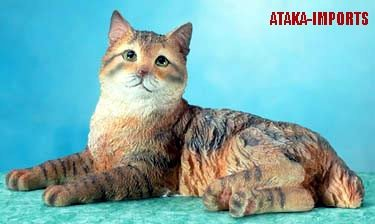 AMERICAN BOBTAIL CAT FIGURINE-STATUE (5661)