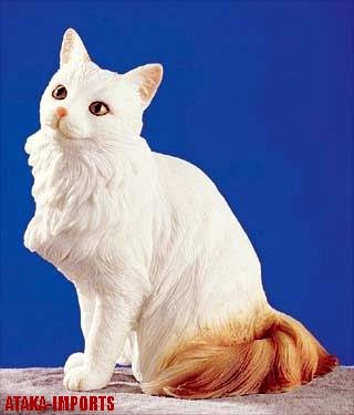 TURKISH VAN CAT FIGURINE-VAN (5247)