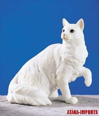 TURKISH ANGORA CAT FIGURINE-ANKARA (5251)
