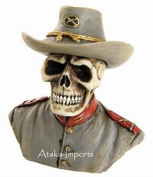 U.S. SOUTH -CIVIL WAR SOLDIER SKULL-SKELETONS FIGURINE-HALLOWEEN (6389)