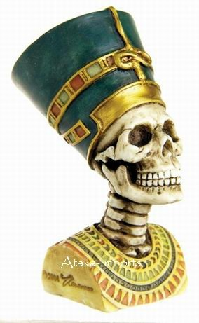 QUEEN NEFERTITI SKELETONS BUST-SKULL-HALLOWEEN (6382)