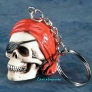 PIRATE SKULL KEYCHAIN-KEY CHAIN-SKELETON-NEAT-COOL-HALLOWEEN (5832d)