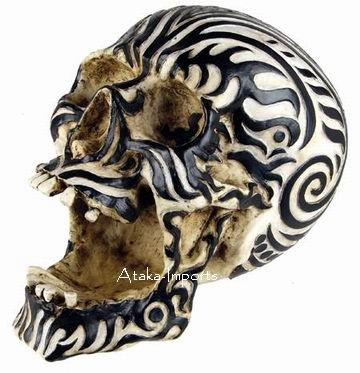ASHTRAY-MAORI RAM SKULL STATUE-BUY NOW-SALE (6409)