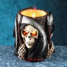 HALLOWEEN-GRIM REAPER UTILITY-CANDLE HOLDER-SKULL-COOL (5046)