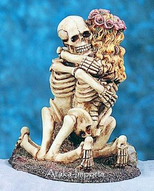 COOL HALLOWEEN CAKE TOPPER-COUPLE-LOVE NEVER DIES (4717)