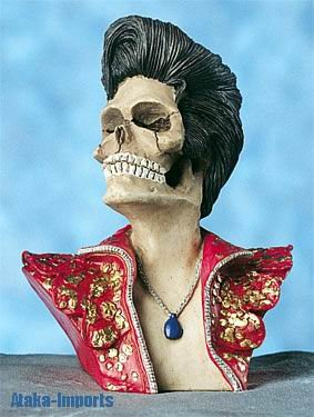 ELVIS PRESLEY SKULL-SKELETON FIGURINE STATUE-COOL-SALE (4587s)