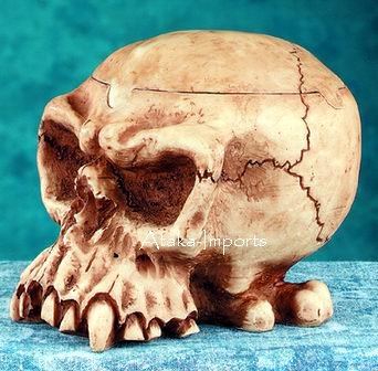 MELTING SKULL ASHTRAY-BIZARRE STATUE-COOL HALLOWEEN (4921)