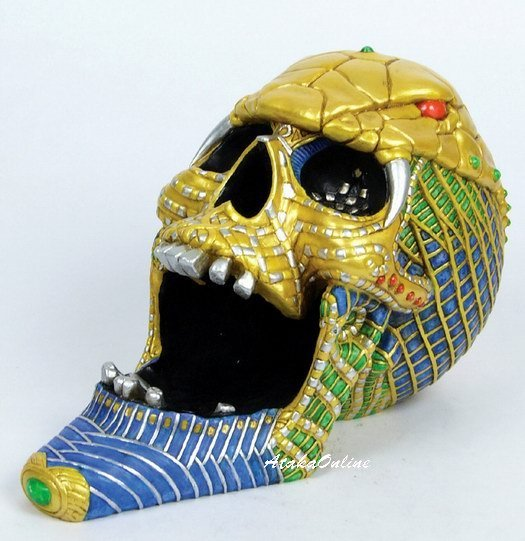 COBRA SKULL ASHTRAY-COLORFUL-HANDPAINTED (6504)