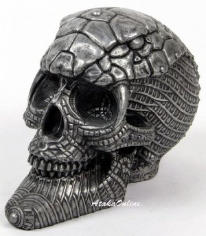 COBRA SKULL-METALLIC COLOR-HANDPAINTED (6505)