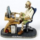 SKELETON SURFING-FIGURINE-TEENAGER-HACKER (6494)