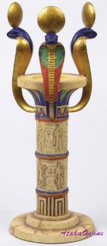 EGYPTIAN COBRA-SNAKE CANDLEHOLDER -CANDLE HOLEDER (6636)