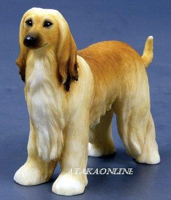 AFGHAN HOUND DOG FIGURINE-BALUCHI HOUND-SAGE BALUCHI-TAZI (6565)