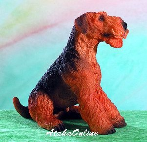 AIREDALE TERRIER DOG FIGURINE-AIREDALE (4953)