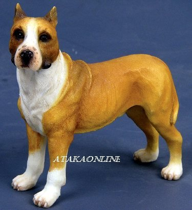 AMERICAN STAFFORDSHIRE TERRIER DOG FIGURINE-AmStaff (6566)