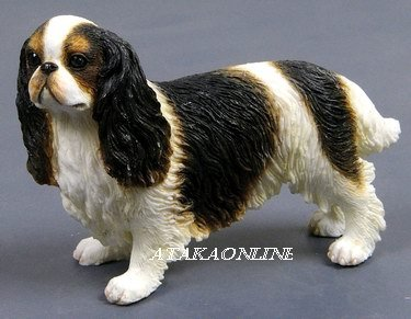 ENGLISH TOY SPANIEL DOG FIGURINE-KING CHARLES SPAINEL (6573)