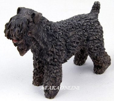 KERRY BLUE DOG FIGURINE-KERRY-IRISH BLUE TERRIER (6563)