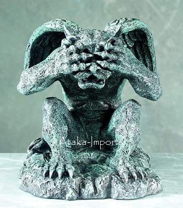SEE NO EVIL-GOTHIC-GARGOYLE STATUE-FIGURINE-NEAT (5133)