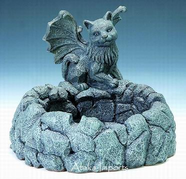 GARGOYLE ASHTRAY-STONE-LIKE-STATUE-GOTHIC (3003)