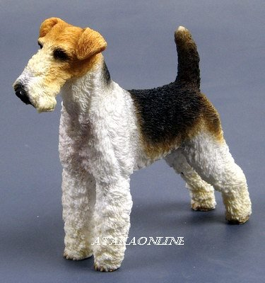 WIRE FOX TERRIER DOG FIGURINE-WIRE-HARIED FOX TERRIER (6330s)