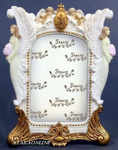 HANDPAINTED ANGEL PICTURE FRAME FIGURINE-STATUE (6429)