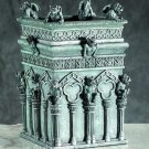 GOTHIC-GARGOYLE TREASURE-TRINKET-JEWELRY BOX-COLUMN-NEW (5696s)