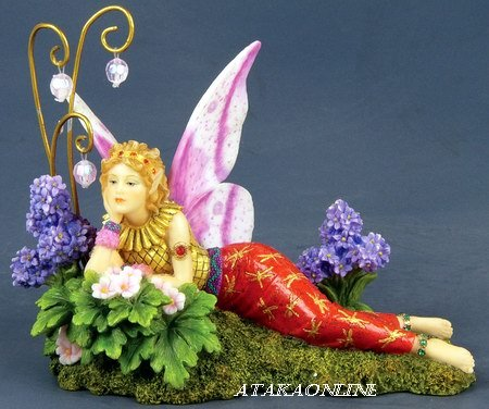 HANDPAINTED DAYDREAMING FAIRY STATUE-FIGURINE (6531)