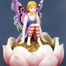 HANDPAINTED JEWELRY BOX W FAIRY SITTING ON WATER LILY (6543)