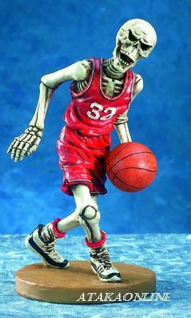 BASKETBALL SKELETON-FIGURINE-STATUE-SPORT-NBA-HALLOWEEN (5359)