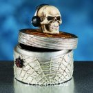 COOL DJ W SPIDER-WEB-SKELETON-TREASURE BOX-HALLOWEEN (5987)