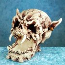 DEMON SKULL FIGURINE-SKELETON-BIZARRE-HALLOWEEN (4982)