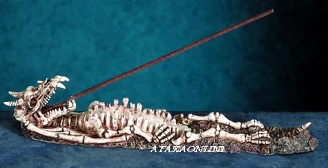 DRAGON SKELETON INCENSE BURNER (5713s)