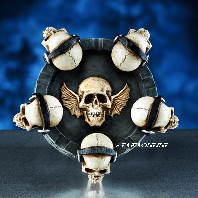 SKULL DJ ASHTRAY-BIZARRE-HALLOWEEN (5988)