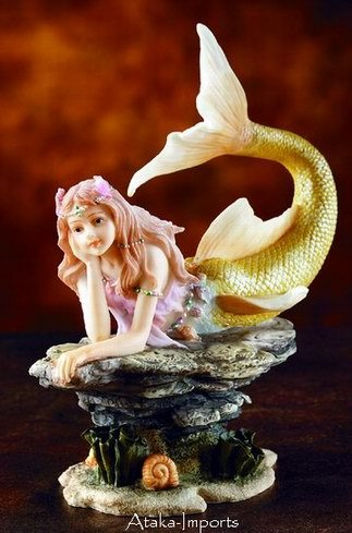MERMAID-DAYDREAMING-CUTE-ADORABLE-STATUE-FIGURINE (5862s)