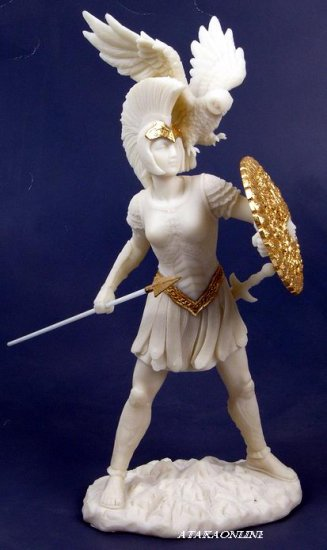 ATHENA-MINERVA-GREEK MYTHOLOGY-ROMAN-SCULPTURE-ARTWORK-MUSEUM COLLECTION (6446)