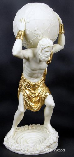 ATLAS-GREEK MYTHOLOGY-ROMAN-SCULPTURE-ARTWORK-MUSEUM COLLECTION (6448)