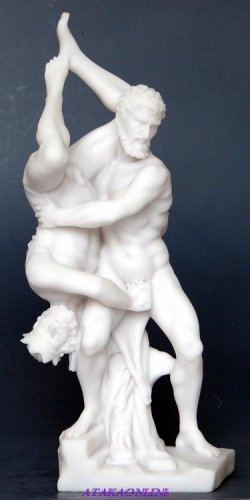 HERCULES & DIOMEDES-GREEK MYTHOLOGY-ROMAN-SCULPTURE-ARTWORK-MUSEUM COLLECTION (6443)