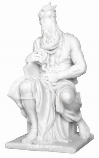 MOSES STATUE-CHRISTIANITY-MICHELANGELO'S ART (6296)